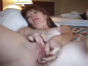 Older lady anal webcam session